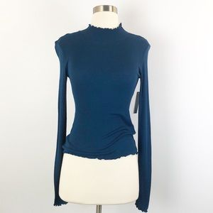 Abound Turtle Neck Top Long Sleeve Pullover Small